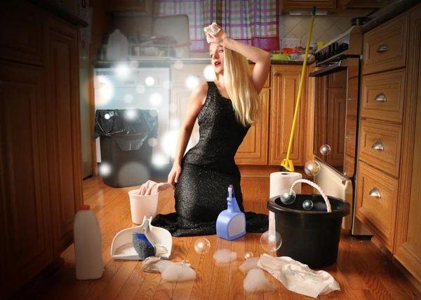 Мыть пол после гостей