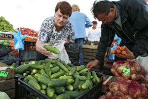 Покупать огурцы на рынке