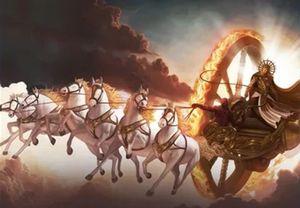 Приземляющаяся колесница