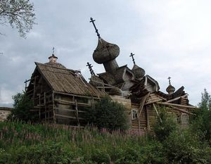 Старая деревянная церковь