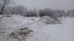 грязный снег