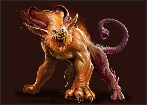 демон льва