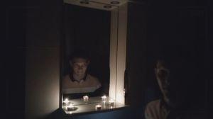 дух баку с помощью зеркала