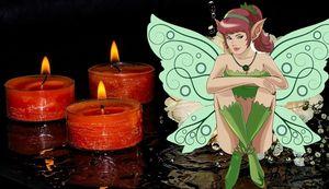 фея желаний с помощью свеч