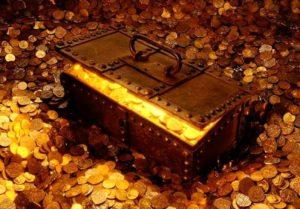 сокровище с золотом